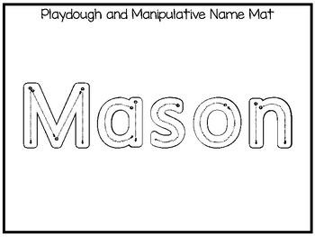 20 No Prep Mason Name Tracing and Activities. Non-editable. Preschool-KDG Handwr