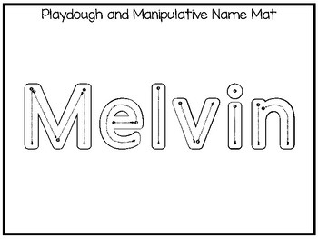 20 No Prep Melvin Name Tracing and Activities. Non-editable. Preschool-KDG Handw