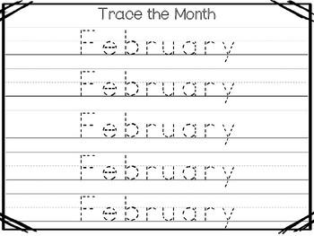 20 No Prep My Birthday Month Febraury Tracing Worksheets and Activities. Handwri