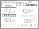 20 No Prep My Birthday Month January Tracing Worksheets and Activities. Handwrit