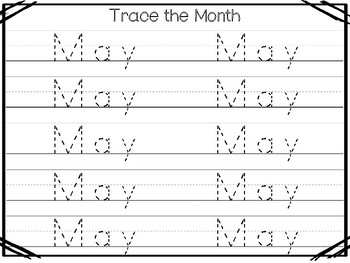 20 No Prep My Birthday Month May Tracing Worksheets and Activities. Handwriting