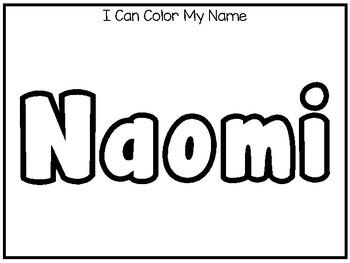 20 No Prep Naomi Name Tracing and Activities. Non-editable. Daycare Writing Acti
