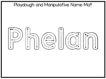 20 No Prep Phelan Name Tracing and Activities. Non-editable. Preschool-KDG Hand
