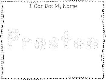 20 No Prep Preston Name Tracing and Activities. Non-editable. Preschool-KDG Hand