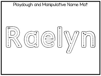20 No Prep Raelyn Name Tracing and Activities. Non-editable. Preschool-KDG Handw