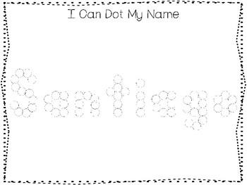 20 No Prep Santiago Name Tracing and Activities. Non-editable. Preschool-KDG Han