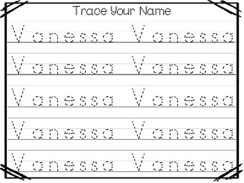 20 No Prep Vanessa Name Tracing and Activities. Non-editable ...