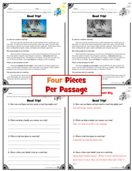 20 Non-Fiction August Reading Comprehension Passages: Back to School Reading