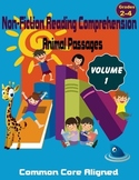 Reading Comprehension Passages Animals Volume 1 Grades 2-4