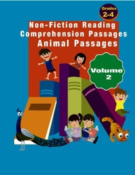 Reading Comprehension Passages Animals Volume two Grades 1-4