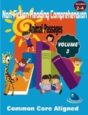 Reading Comprehension Passages Animals Volume 3 Grades 2-4