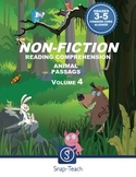 Reading Comprehension  Passages Volume 4 Grades 3-5
