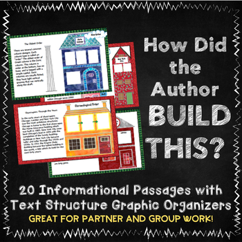 20 Non-Fiction Text Structure Mini-Passages with Graphic Organizers