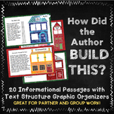 20 Non-Fiction Text Structure Mini-Passages with Graphic Organizers, Task Cards