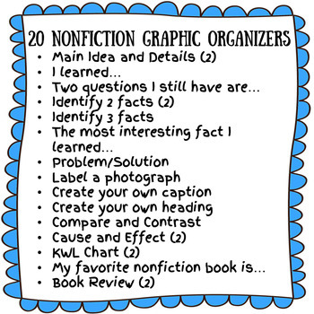 20 Nonfiction Graphic Organizers