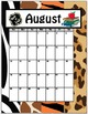 20 Notebook Inserts Animal Print CA Binder Organizer Dividers Tabs Calendar