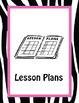 20 Notebook Inserts Pink Zebra CA Binder Organizer Dividers Tab 2012-13 Calendar
