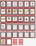 20 Notebook Inserts Polka Dot Binder Organizer Dividers Tabs 2012-13 Calendar RB