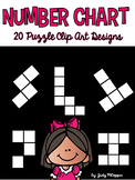 20 Number Chart Puzzle Piece Clip Art
