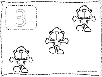 20 Number Count and Color No Prep Worksheets