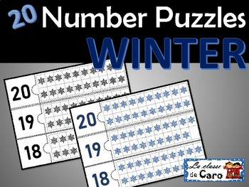 20 Number Puzzles - 1 to 20  - (French-FSL)