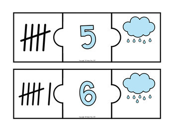 20 Number Puzzles- 3 Ways to Represent a Number! Numbers 1-20