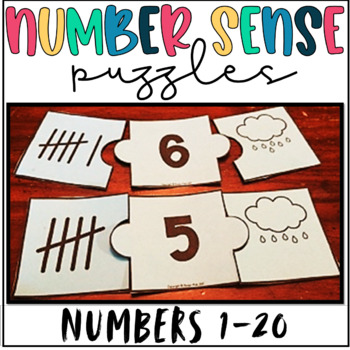 Number Puzzles- 3 Ways to Represent a Number! Numbers 1-20
