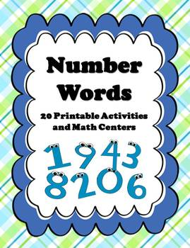 20+ Number Words (1-10) Activities & Centers