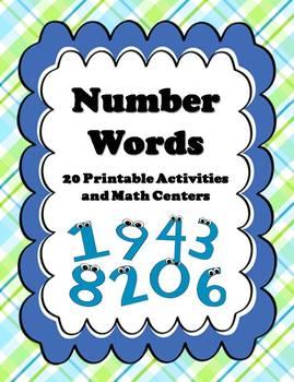 20+ Number Words (1-10) Activities & Centers