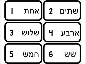 20 Numbers in Hebrew Flashcards. Foreign Language Bible Studies.