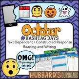 20 October Constructed Response Reading Passages – Google Classroom Activities