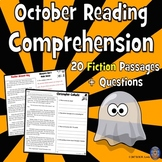 20 October Reading Passages: Halloween Reading Comprehension