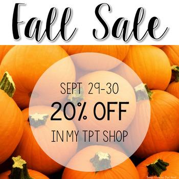 20% Off Sale (Including Bundles) 9/29 - 9/30