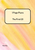 20 One page plans
