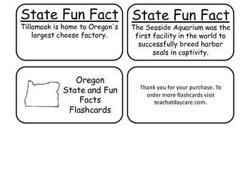 20 Oregon State Fact Flashcards. 1st Grade-7th Grade