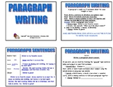 20 PARAGRAPH WRITING TASK CARDS with graphic organizers  G