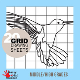 20 Pack Grid Drawing Worksheets for Middle/High School
