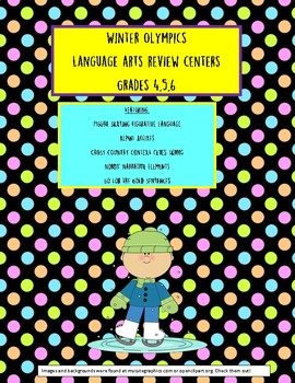 20 Page Winter Olympic Language Arts BUNDLE!