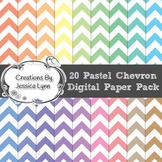 20 Pastel Chevron 12 x 12 Digital Paper Pack