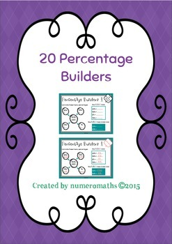 20 Percentage Builders - Math lesson 'starters'