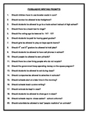 20 Persuasive / Opinion Writing Prompts