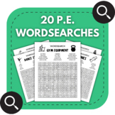 20 Physical Education Wordsearches - P.E. Distance Learnin