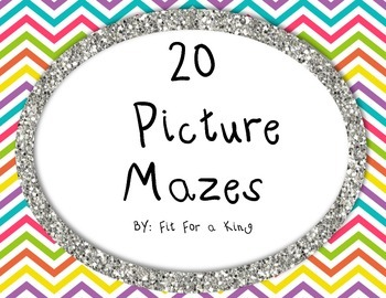 20 Picture Mazes Activity Pack
