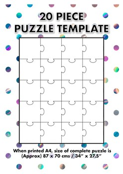 20 Piece Blank Jigsaw Puzzle Template