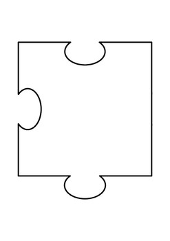 20 Piece Blank Jigsaw Puzzle Template By Paul Kearney Tpt