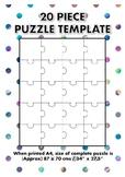 20 Piece Blank Jigsaw Puzzle Template
