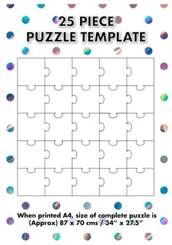 Blank puzzle template teaching resources teachers pay teachers 25 piece blank jigsaw puzzle template 25 piece blank jigsaw puzzle template maxwellsz