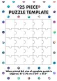25 Piece Blank Jigsaw Puzzle Template
