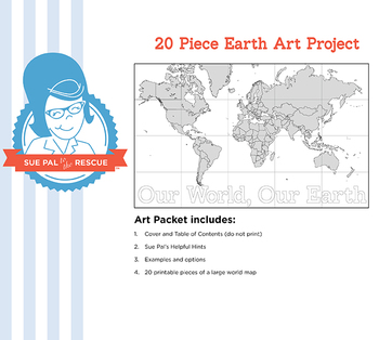 20 Piece Earth Day Art Project