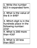 20 Place Value Task Cards